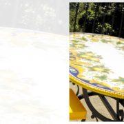 tavoli in ferro e pietra Vietri