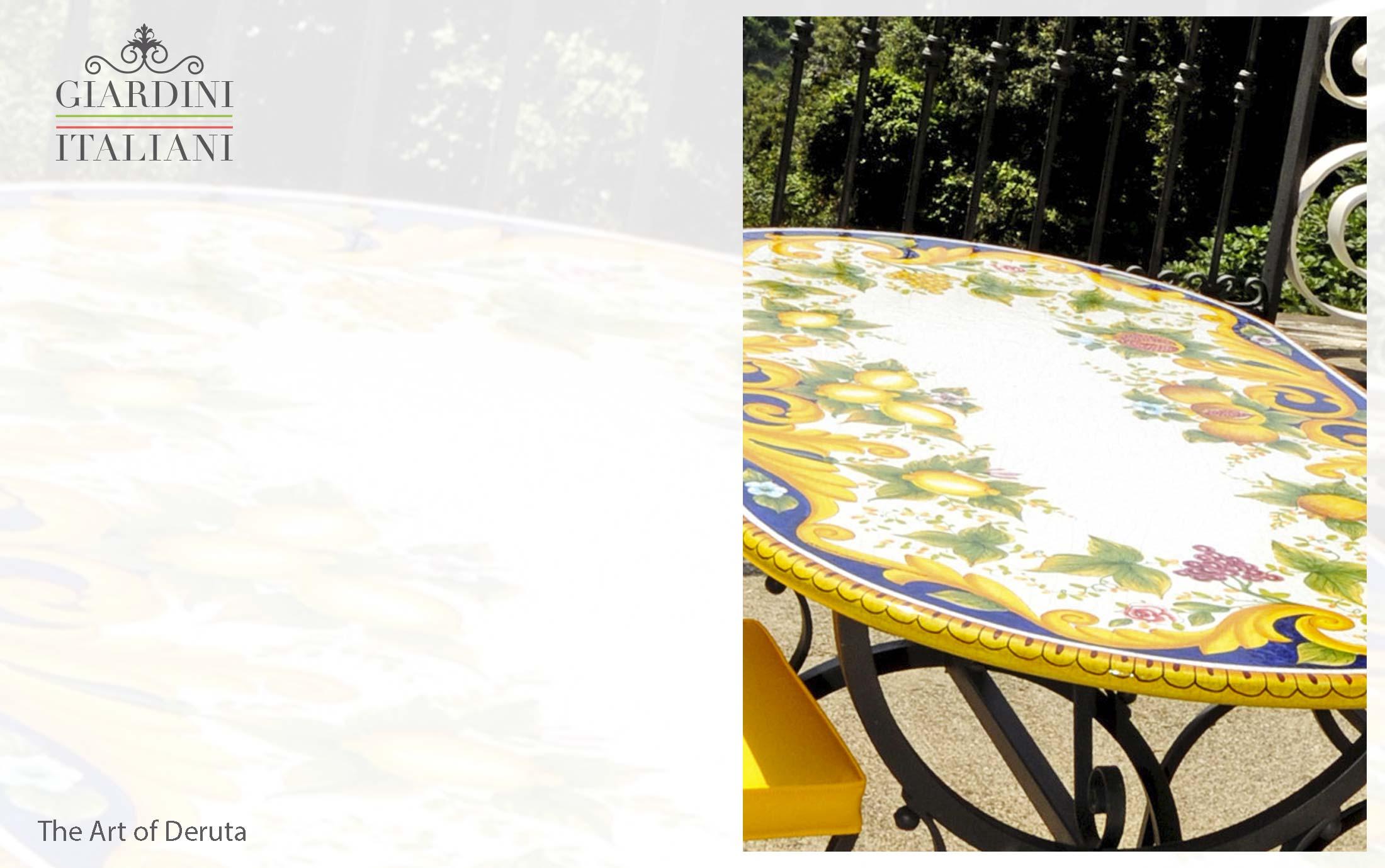 Tavoli Da Giardino In Ferro E Pietra.Vietri Giardini Italiani