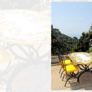tavolo con sedie in ferro battuto Vietri