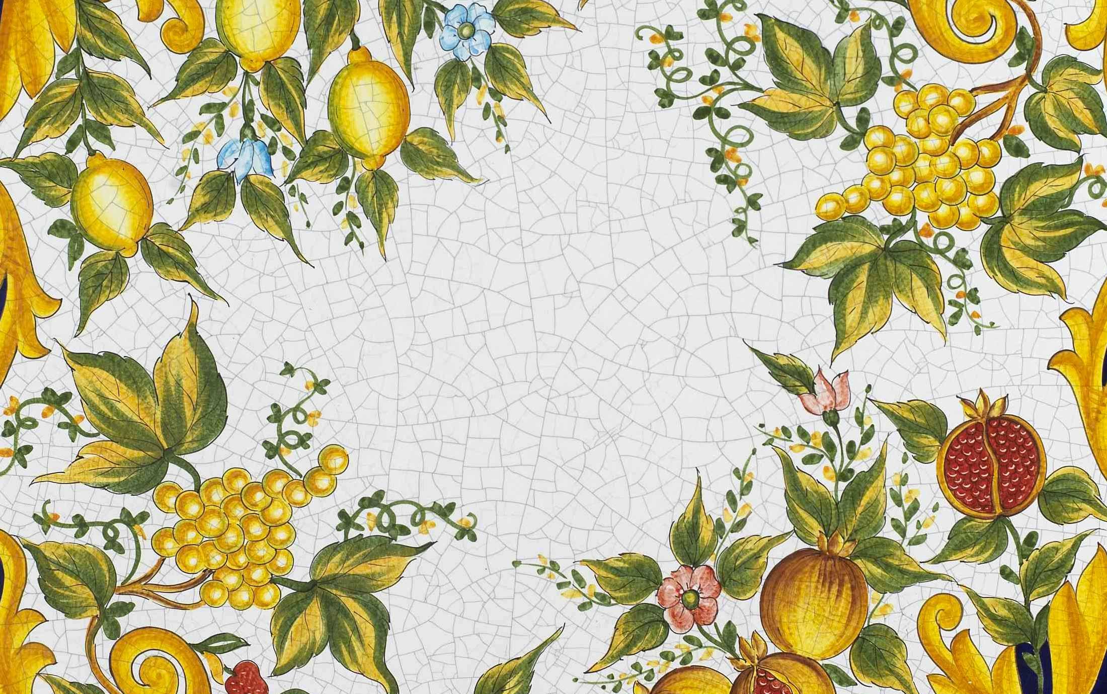 Tavoli Da Giardino In Ceramica Di Vietri.Vietri Giardini Italiani