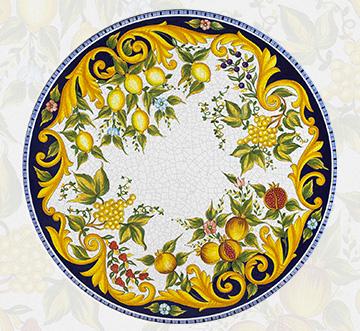 Giardini Italiani – Tavoli in ceramica di Deruta