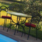 tavoli da giardino in ferro e ceramica cascia