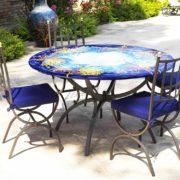 tavoli giardino ferro e ceramica Nizza