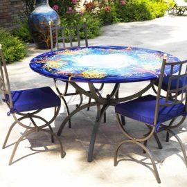 Tavolo Da Giardino In Ferro E Mosaico.Tavolo Da Giardino In Ferro Battuto Piano Mosaico Elegant Tavolo Da