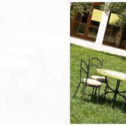 tavoli per esterno in ferro e ceramica Cortina