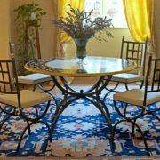 tavolo in ferro battuto e ceramica Imperia