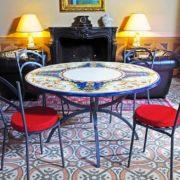 tavolo in pietra da giardino Gubbio